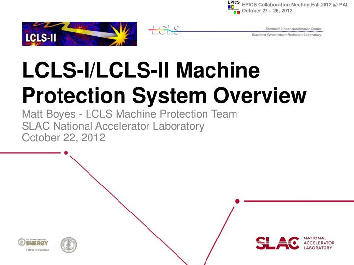 Lcls i lcls ii machine protection system overview