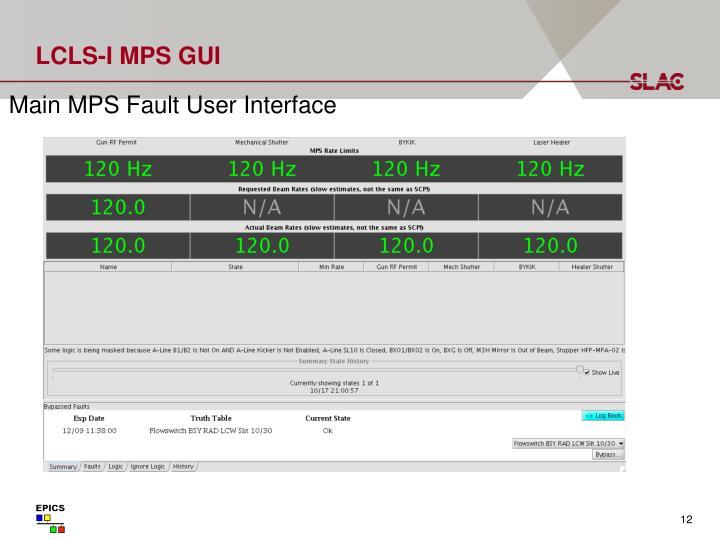 LCLS-I MPS GUI