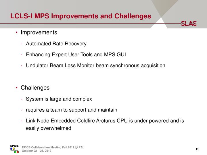 LCLS-I MPS Improvements and