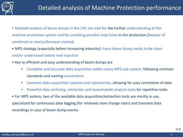 Detailed analysis of Machine Protection performance