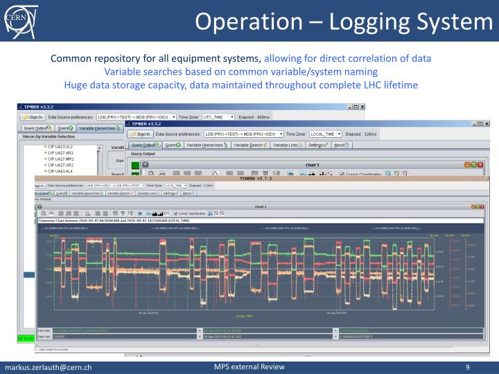 Operation – Logging System