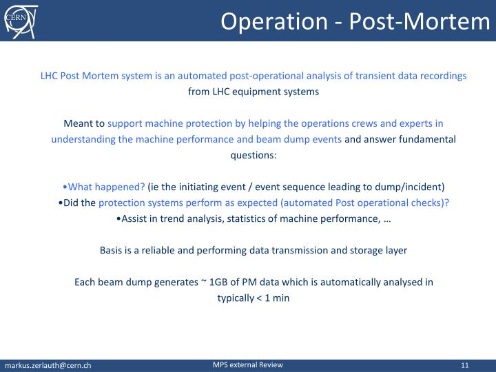 Operation - Post-Mortem