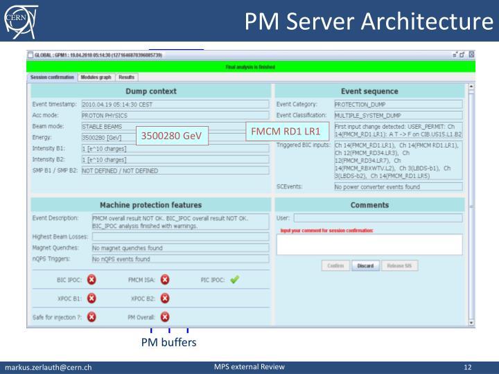 PM Server Architecture