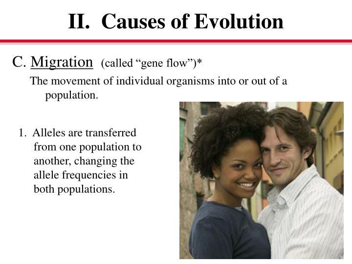 II.  Causes of Evolution