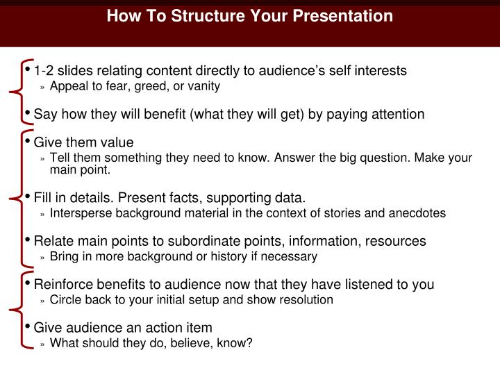 How To Structure Your Presentation