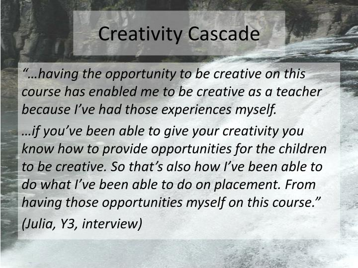 Creativity Cascade