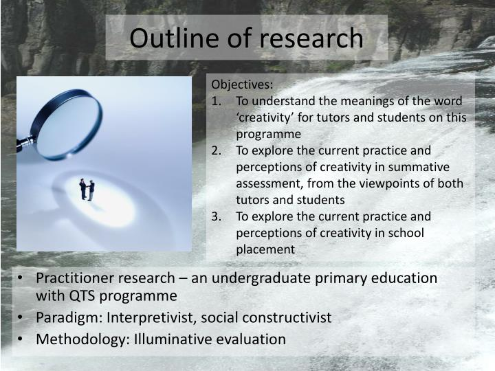 Outline of research