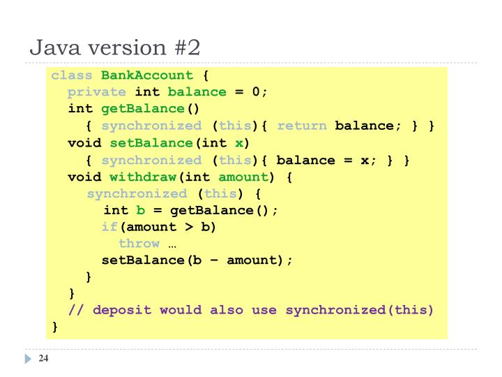 Java version #2