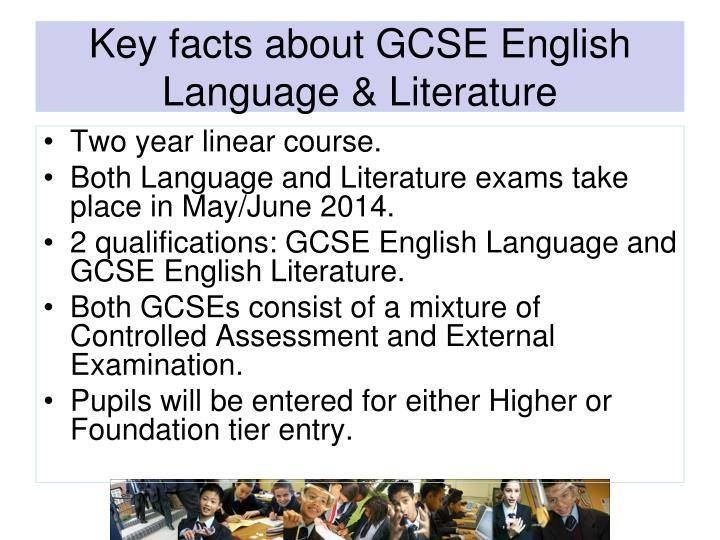 Key facts about GCSE English Language & Literature