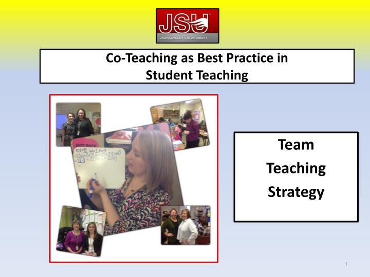 Co teaching as best practice in student teaching
