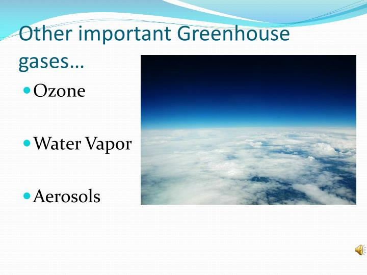 Other important Greenhouse gases…