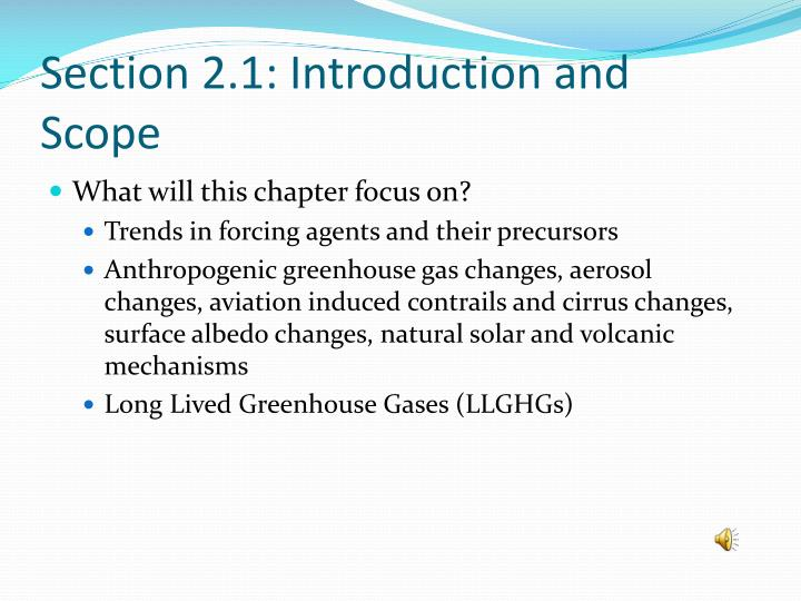 Section 2 1 introduction and scope