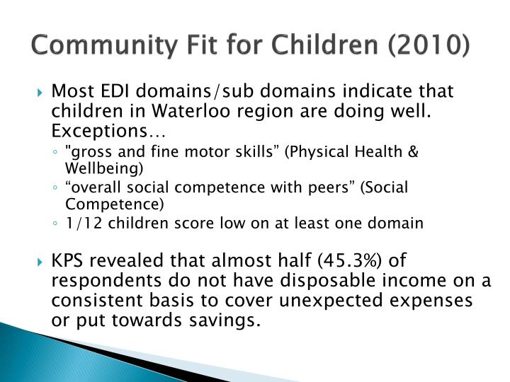 Community Fit for Children (2010)