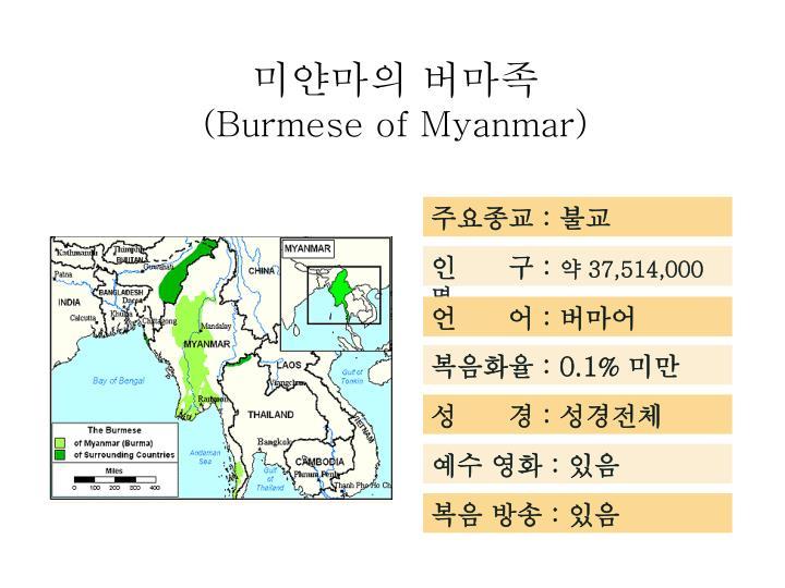 미얀마의 버마족