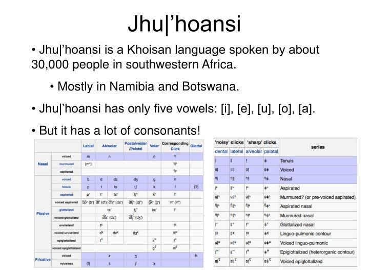 Jhu|'hoansi