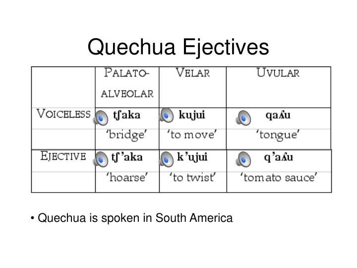 Quechua Ejectives