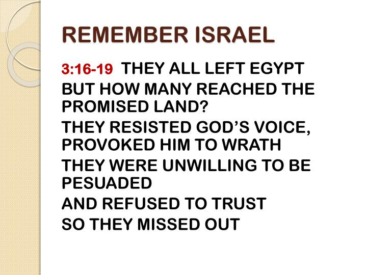Remember israel