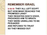 remember israel