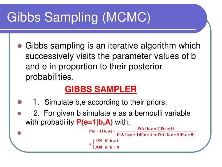Gibbs Sampling (MCMC)