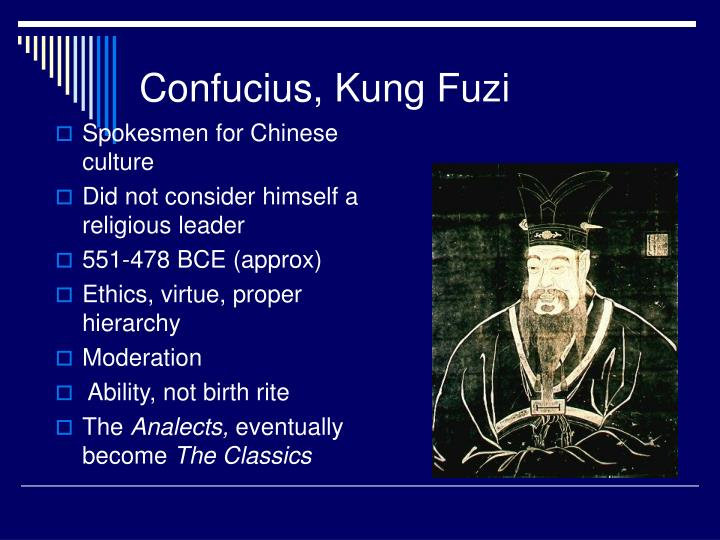 An analysis of confucianism by kung fuzi