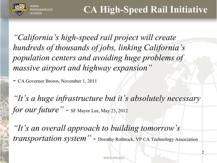 CA High-Speed Rail Initiative