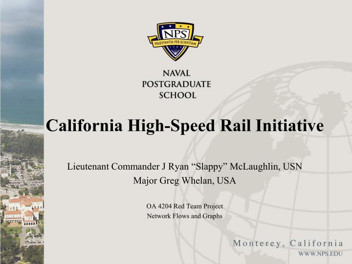 california high speed rail initiative