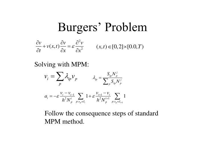 Burgers' Problem