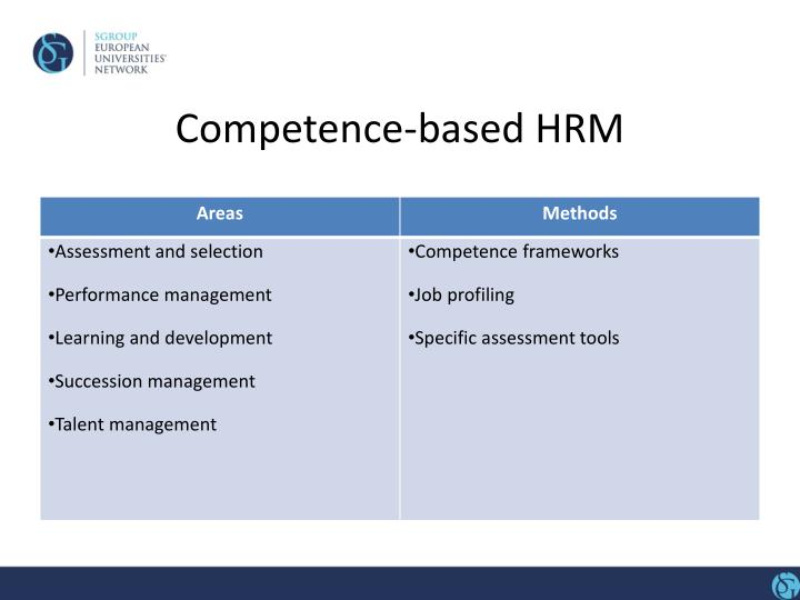 Competence-based HRM
