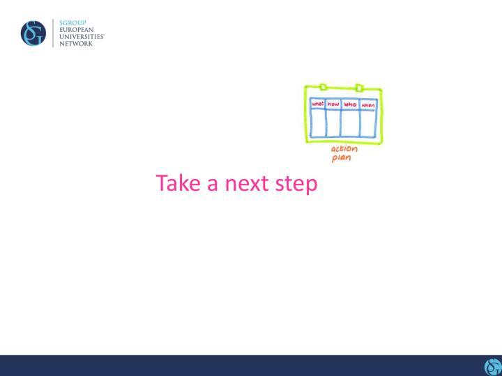 Take a next step