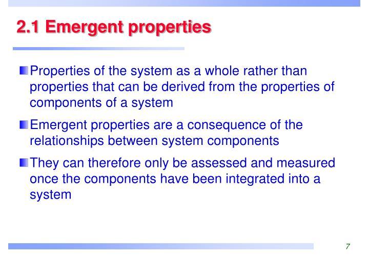 2.1 Emergent