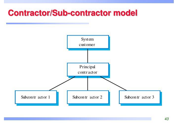 Contractor/Sub-contractor model