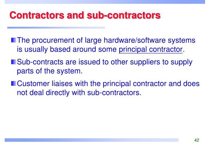 Contractors and sub-contractors
