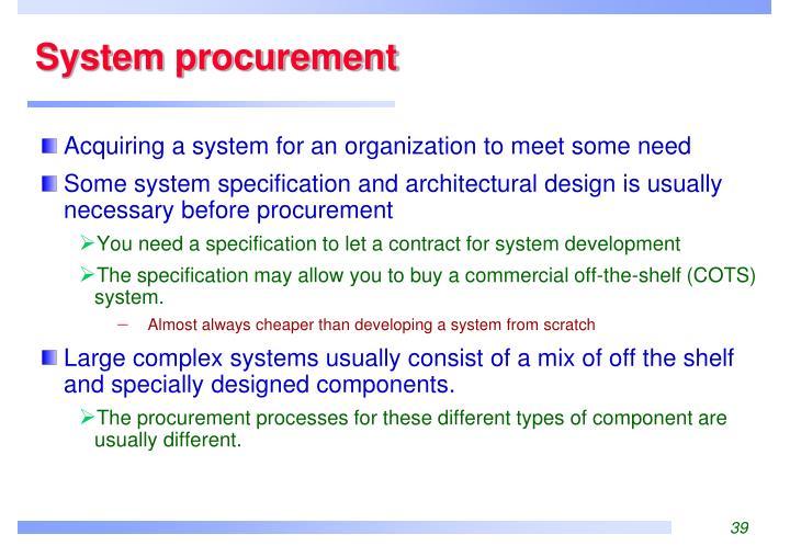System procurement