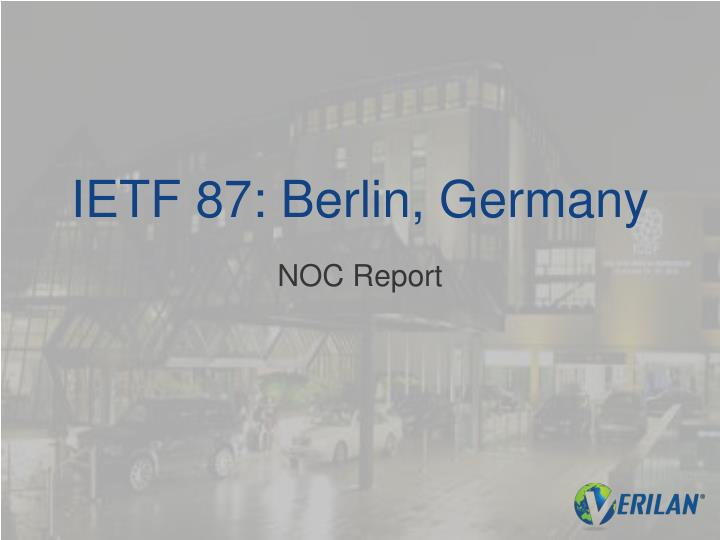 Ietf 87 berlin germany