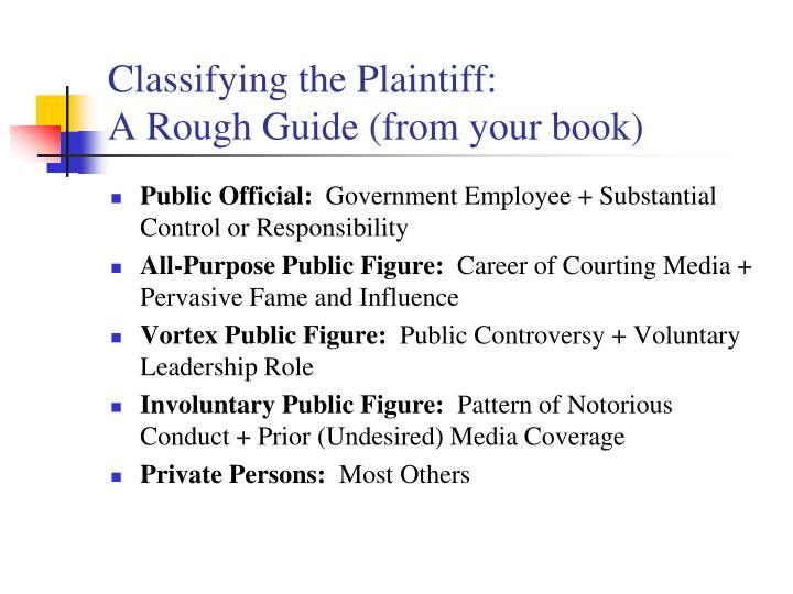 Classifying the Plaintiff: