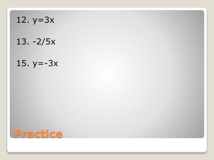 12. y=3x