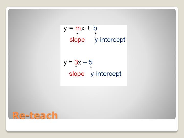 Re-teach