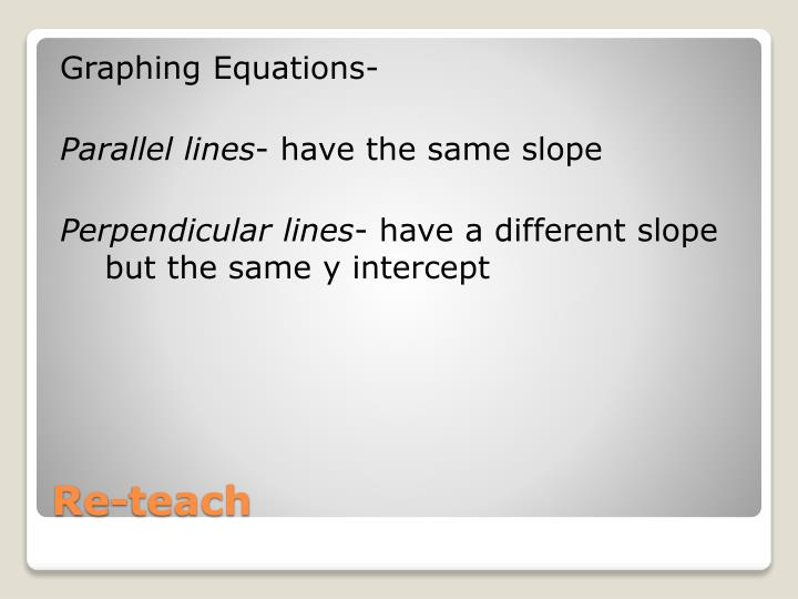 Graphing Equations-