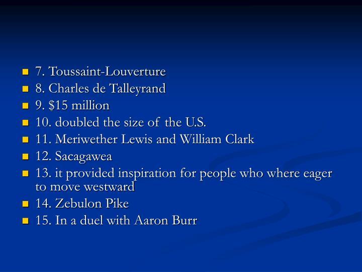 7. Toussaint-Louverture
