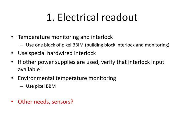 1 electrical readout1