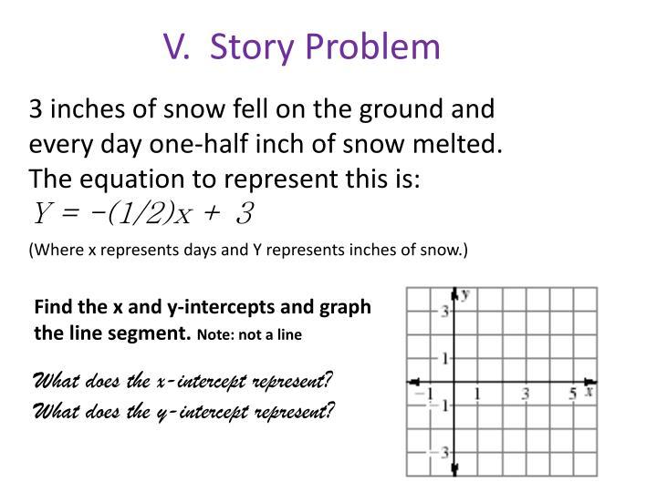 V.  Story Problem