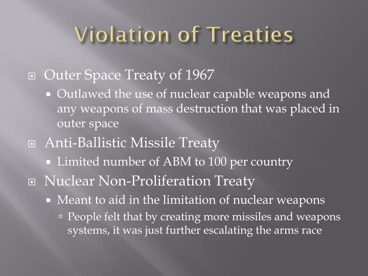 Violation of Treaties