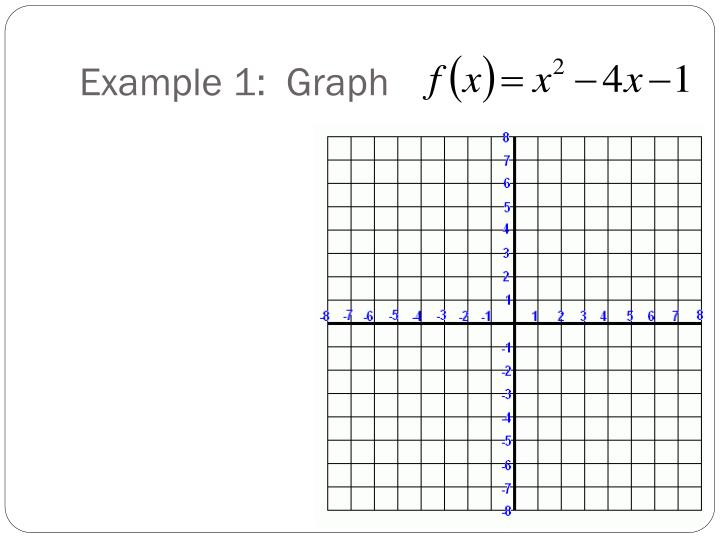 Example 1:  Graph
