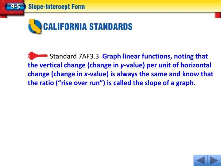 Standard 7AF3.3