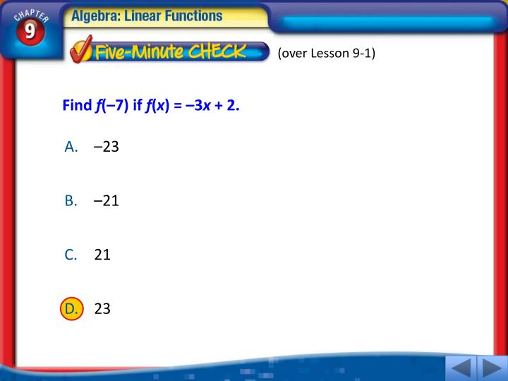 (over Lesson 9-1)