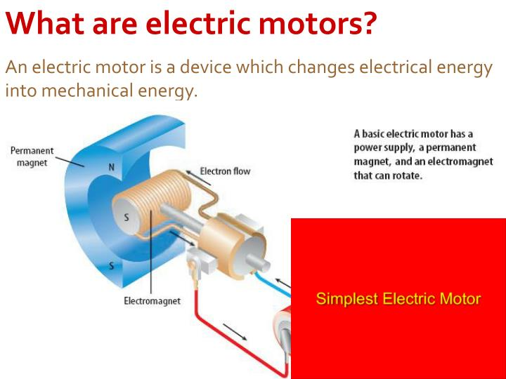 What are electric motors?