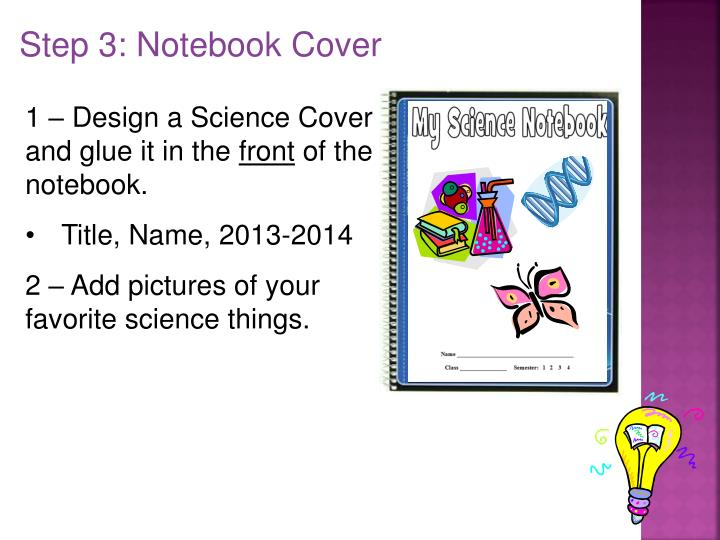 Step 3: Notebook Cover