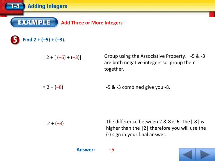 Add Three or More Integers