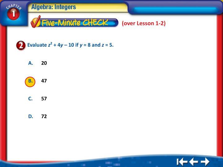 (over Lesson 1-2)