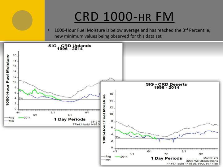 CRD 1000-hr FM